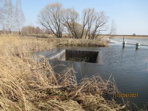 Водосбросное сооружение КВАТ-3 с шахтным оголовком  пруд на р. Аксень